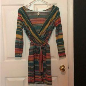 Dresses & Skirts - cute three quarter sleeve colorfully striped dress